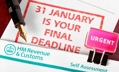Self Assessment filing deadline 31st January 2018